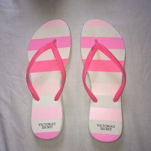 Striped Victoria's Secret Flip-Flops!!